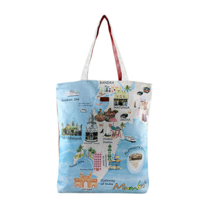 YOLO Cityscapes- Mumbai Tote for Women/Girls-Pink