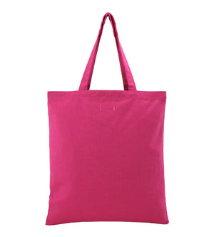 YOLO Country Side Canvas Fashion Tote Bag in Fuchsia