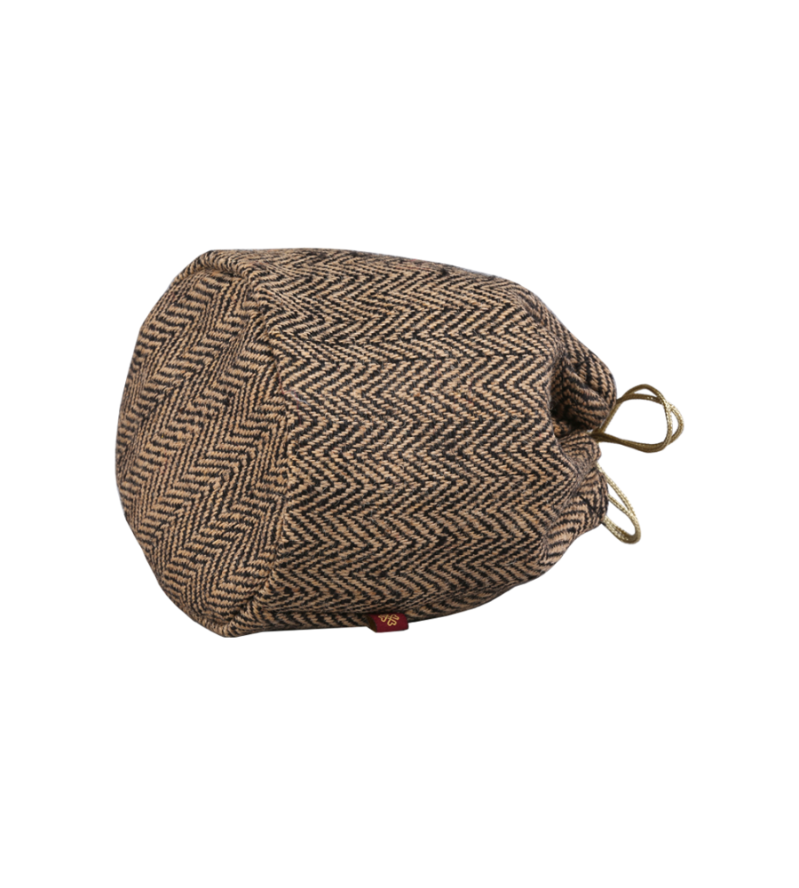 RishteyBags Ishita2 Chocolate brown Herring bone Gift Bag