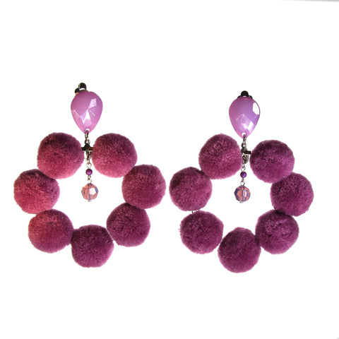 Pompon Statement Hoops
