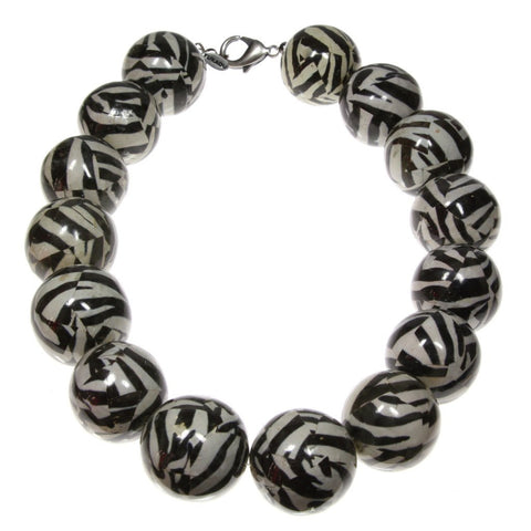 Abstraktes Zebra Collier