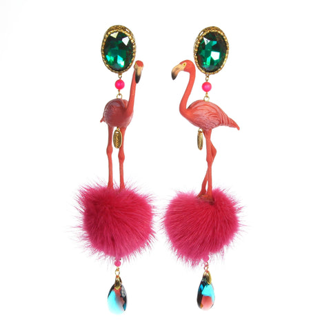 Flamingo Ohrclips