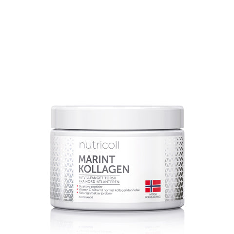 Marint Kollagen med Jordbær & Rabarbra 150g - superliv.no
