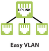 Auto and Easy VLAN functions