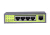 CA-G5P-65X 4-Port Gigabit PoE+ Switch, 1 RJ45 Uplink - Syncom Technologies