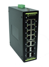 KA-GMH14 8-Port Managed Hardened Gigabit Switch, 6 Uplinks (4 SFP, 2 RJ45) - Syncom Technologies