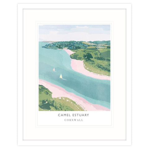Camel Estuary Print by Whistlefish