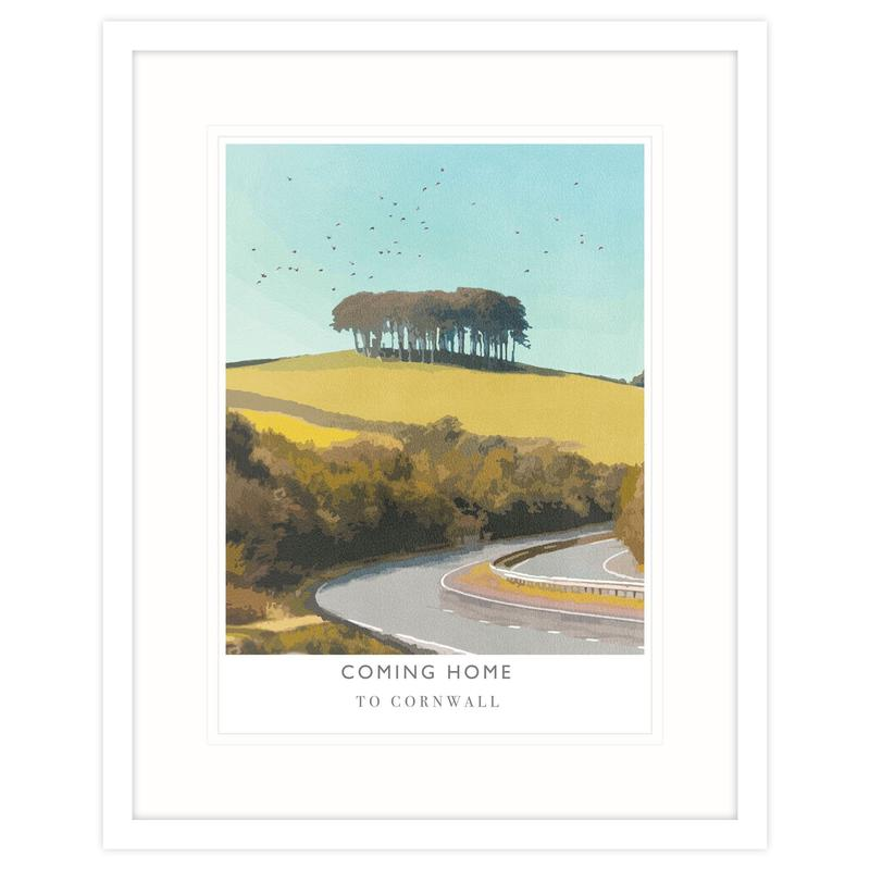 Coming Home to Cornwall Travel Art Print