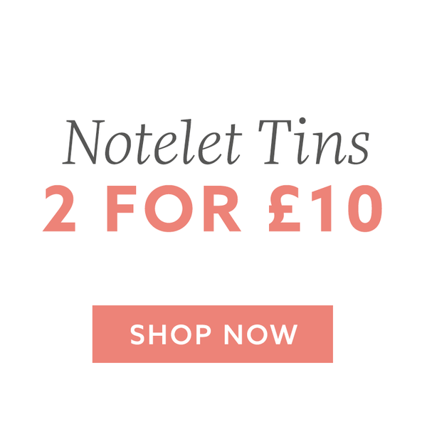 2 For £10 Notelet Tins