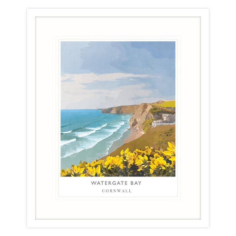 Watergate Bay Print by Whistlefish