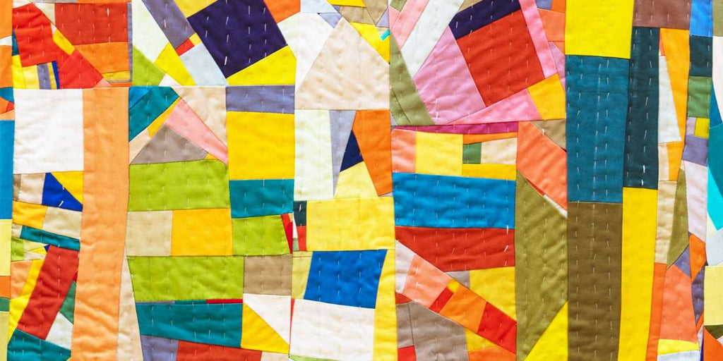 colourful quilt from Katie Schwab