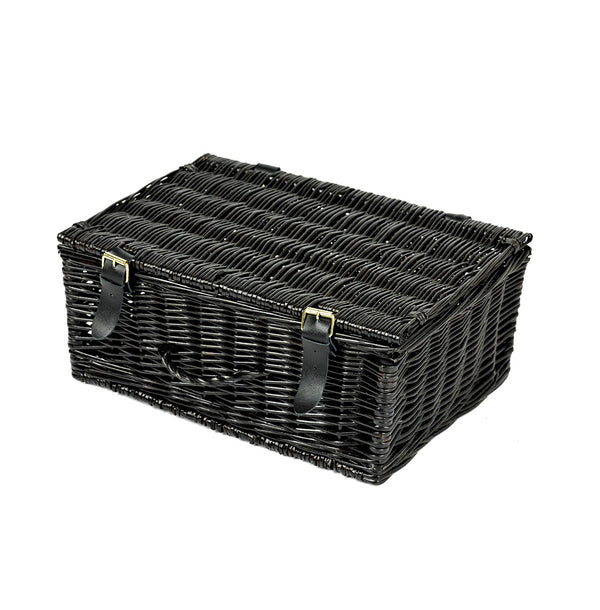 Black Medium Wicker Basket