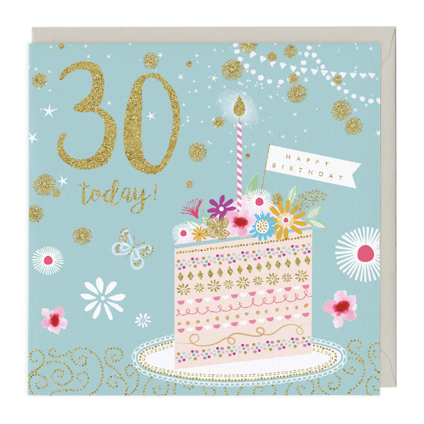 30 Today Glitter Card