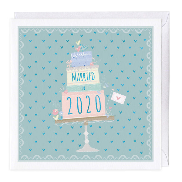 Married in 2020 Wedding Card
