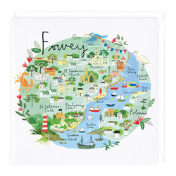 Fowey Map Card