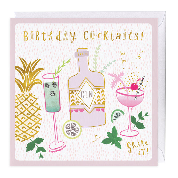 Shake It Birthday Cocktails Card
