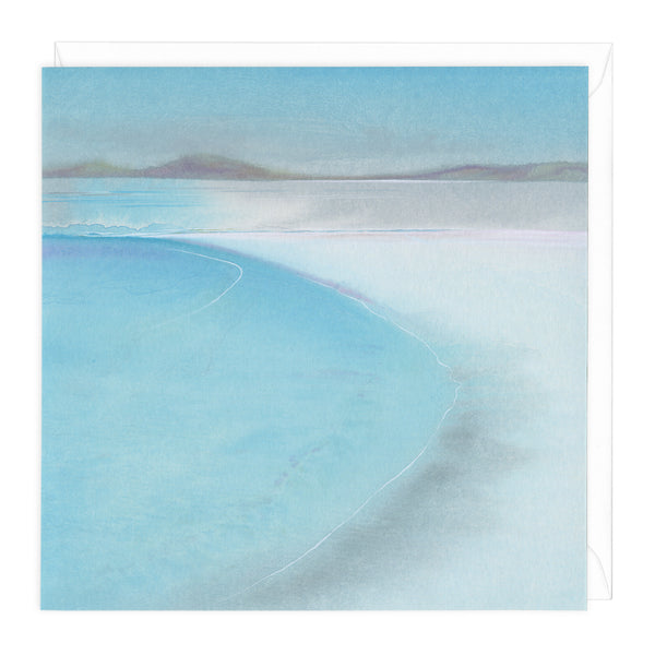 Turquoise Waves Art Card