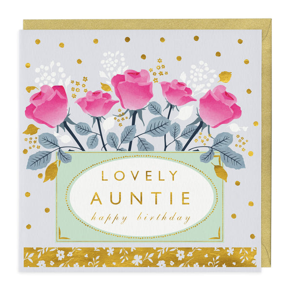 Lovely Auntie Happy Birthday Card