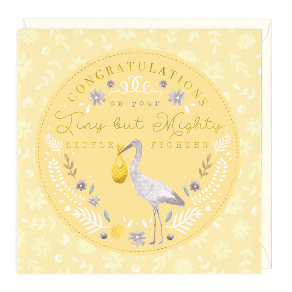 Tiny But Mighty New Baby Card