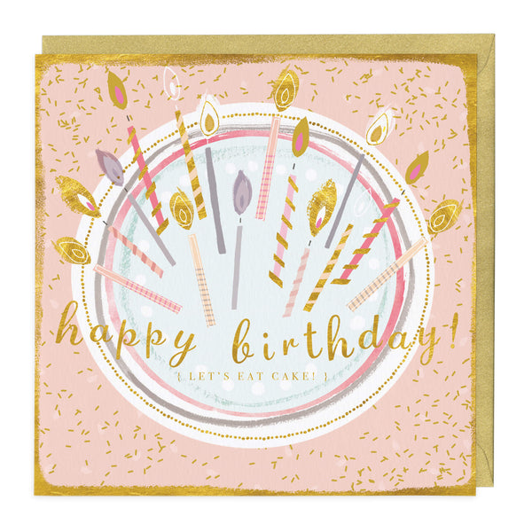 Happy Birthday Let's Eat Cake Card