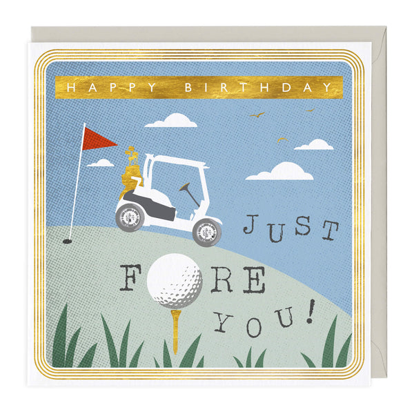 Just Fore You Birthday Card