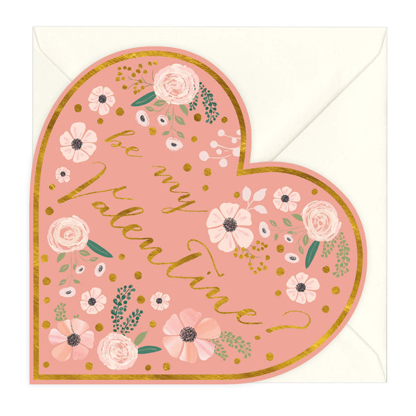 Be My Valentine Heart Shaped Card