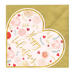 Happy Valentines Heart Shaped Card