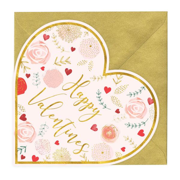 Personalised Happy Valentines Heart Shaped Card