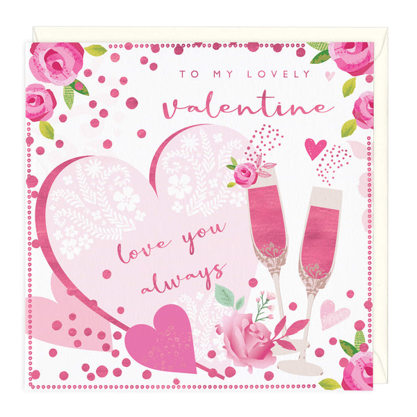 Personalise To My Lovely Valentine Card
