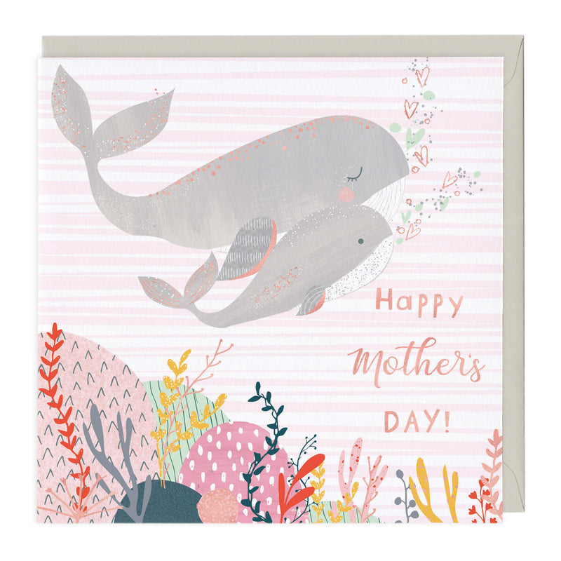 Happy Mother's Day Whales Card