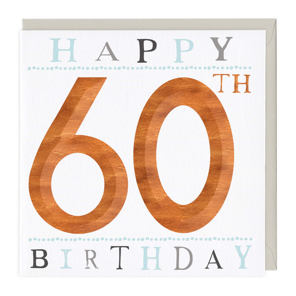 60th Birthday 3D Card