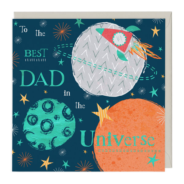To The Best Dad In The Universe Card