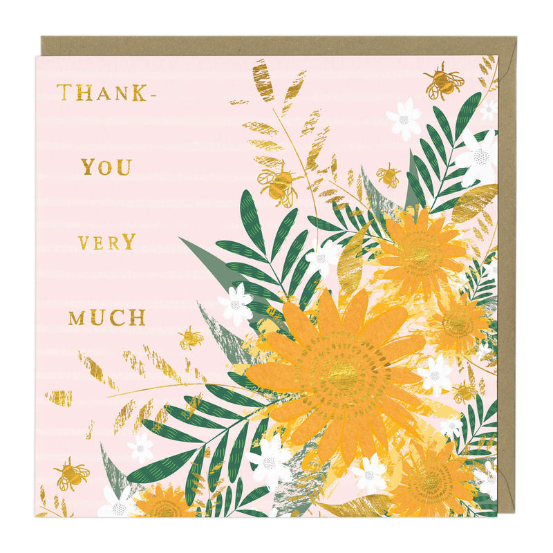 Floral Thank You Very Much Card