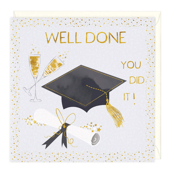 Well Done You Did It Graduation Card
