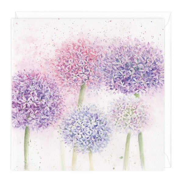 Alliums Floral Card