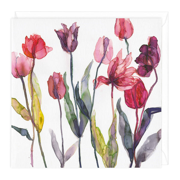 Autumn Tulips Art Card