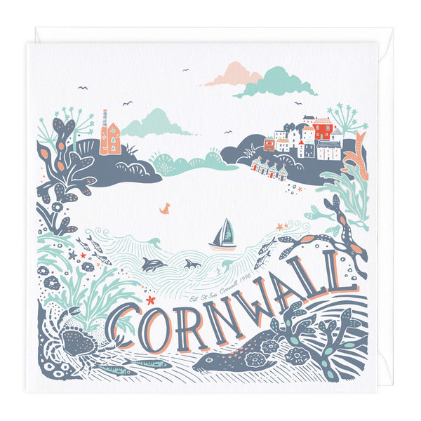 Cornwall Beach Scene Greeting Card