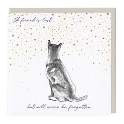 A Friend Is Lost Dog Sympathy Card