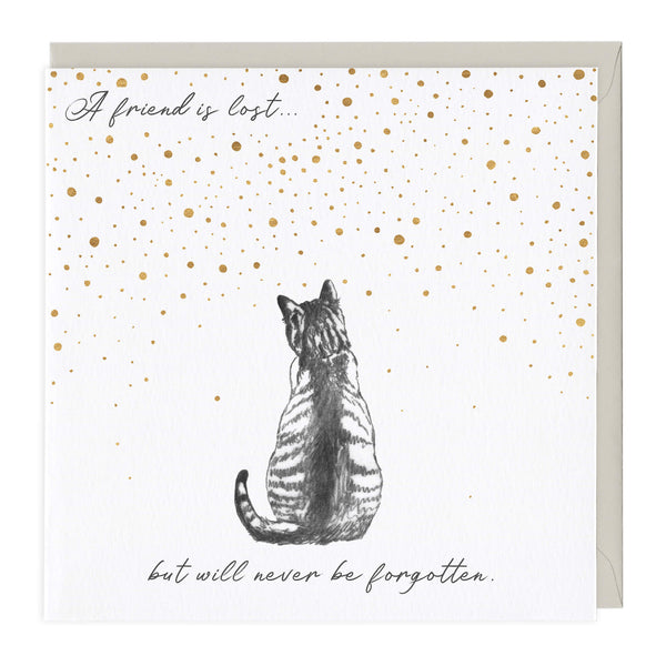 A Friend Is Lost Cat Sympathy Card