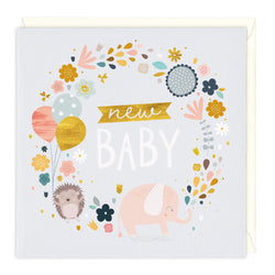 Happy Hedgehog New Baby Card