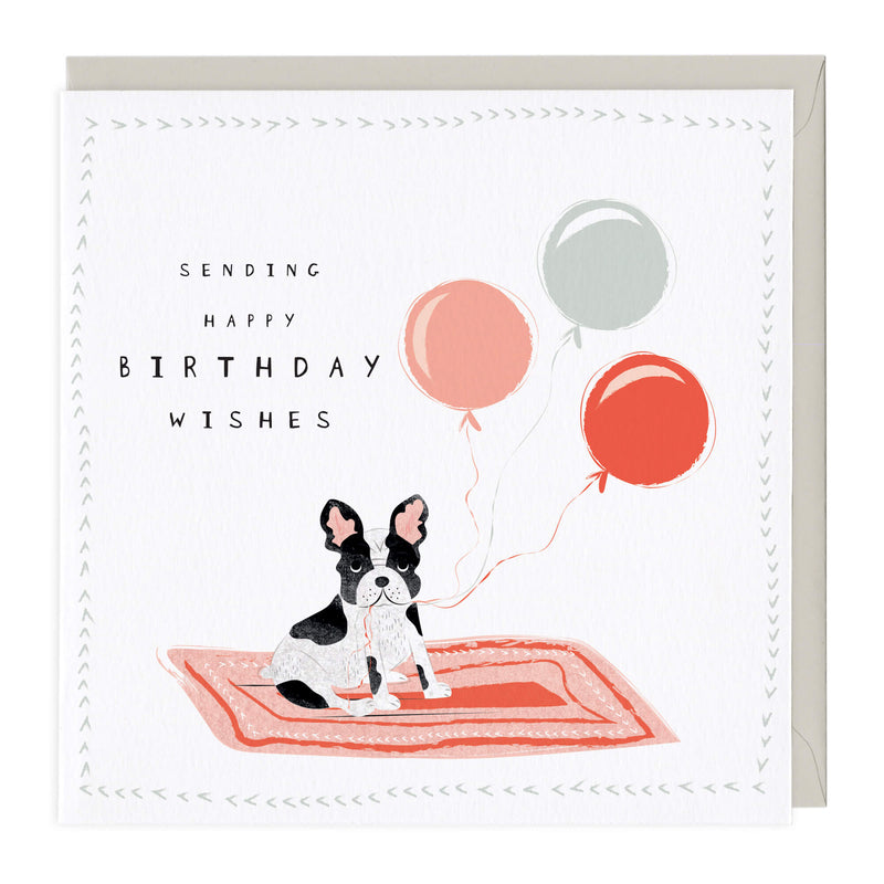 Birthday Balloons Frenchie Card