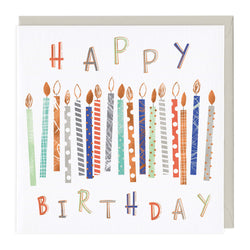 Colourful Birthday Candles Card