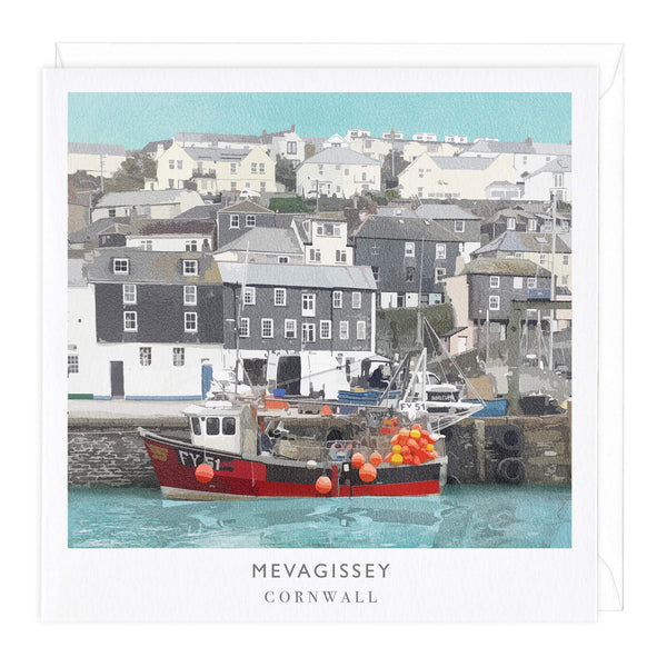 Mevagissey Travel Art Card