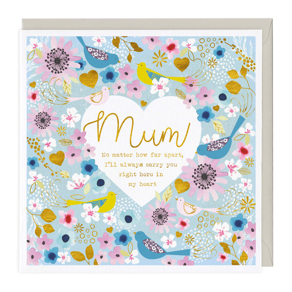 Mum Right In My Heart Card