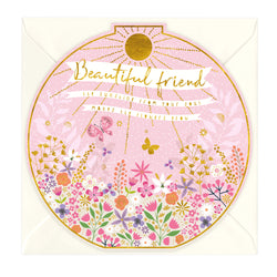 Beautiful Friend Round Card