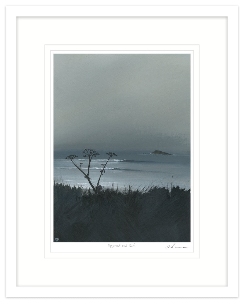 Hogweed And Surf Framed