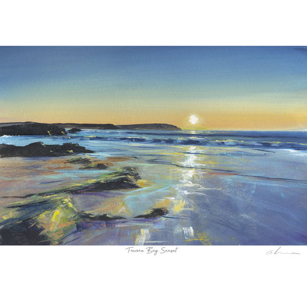Trevone Bay Sunset Art Print