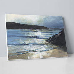 Silver Water, Porth Canvas