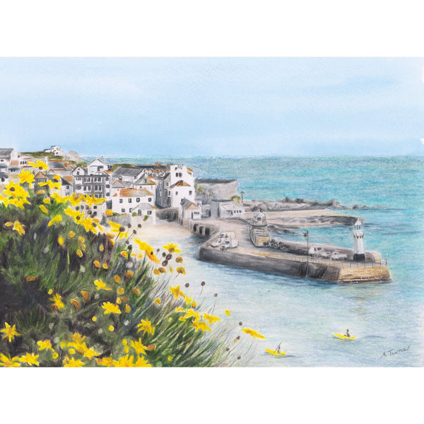 Flowers Above St Ives Art Print
