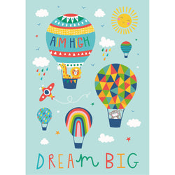 Aim High Dream Big Art Print for Children